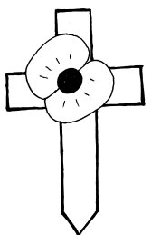 cross with poppy
