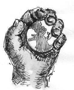 The whole world in his hand