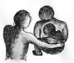 Three-way embrace