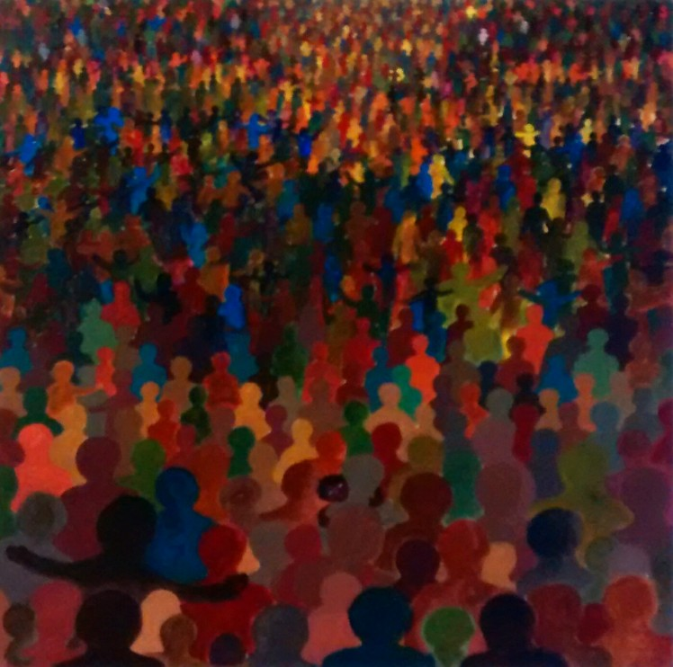 People of God - acrylic on canvas