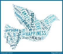 Baptism tag cloud - dove